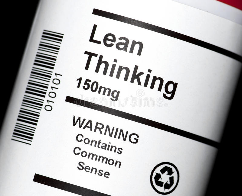 Lean Thinking stock photos