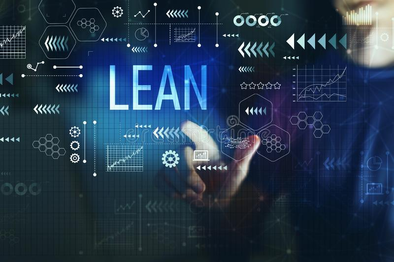 Lean with young man. On a dark background royalty free stock images