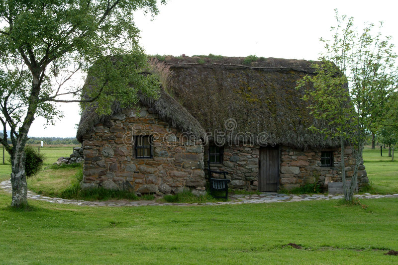 Leanach Cottage - Culloden, Scotland #2 royalty free stock photography