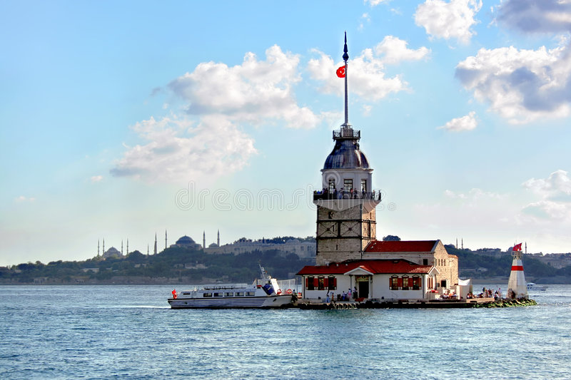 Download Leanders Tower. Istanbul stock image. Image of beacon - 6041037