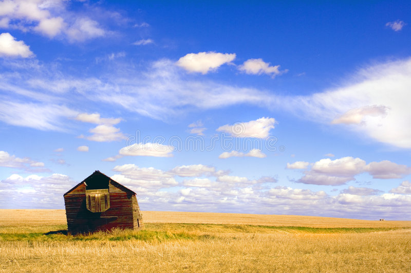 Leaning Barn 1 royalty free stock image