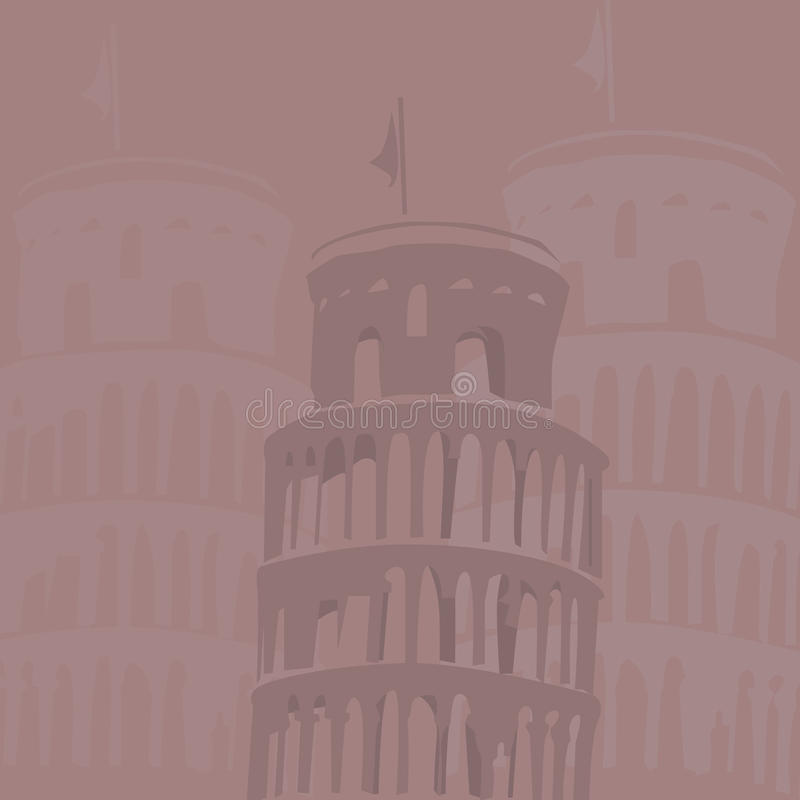 Leaning Tower Of Pisa Background Royalty Free Stock Images