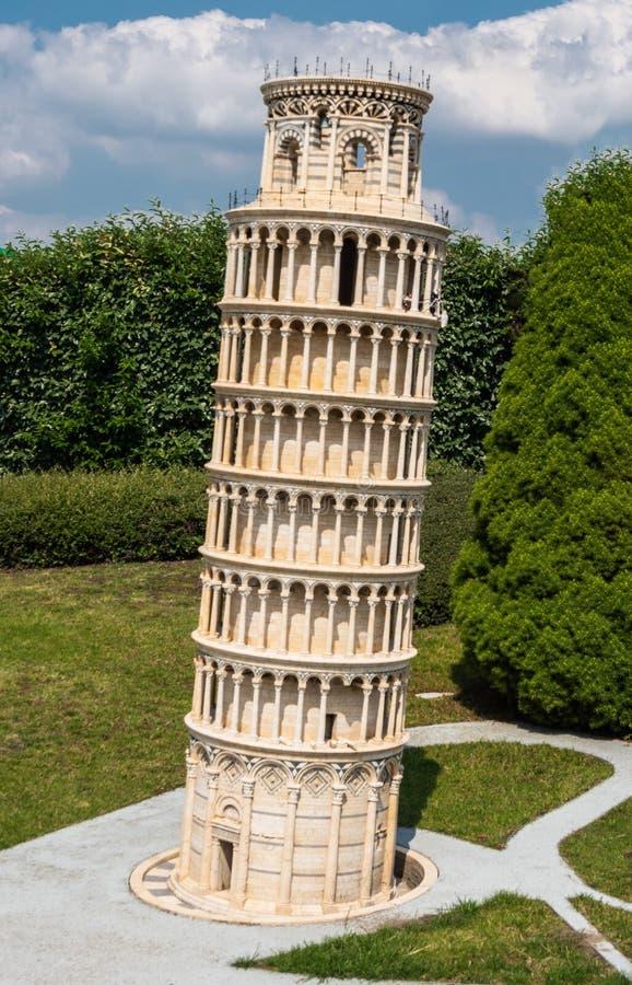 Leaning Tower of Pisa in Brussel, België stock foto's