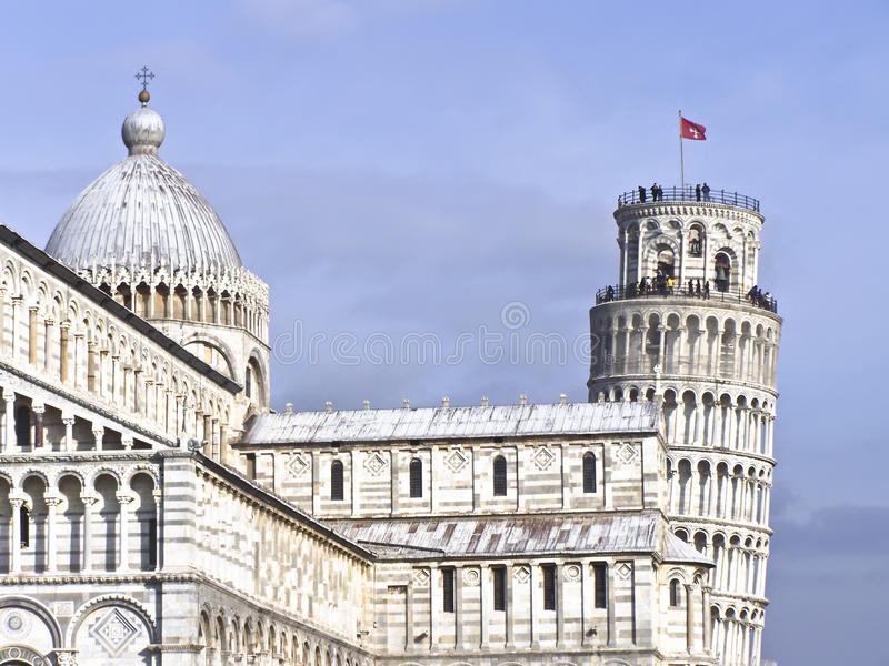 Download Leaning Tower Of Pisa And Cathedral Stock Photo - Image of source, culture: 25094166