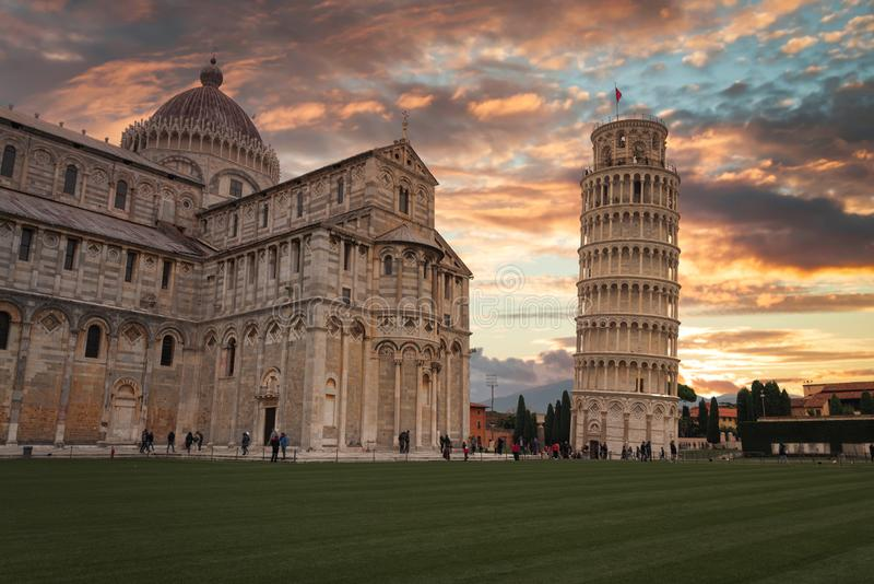 Leaning Tower of Pisa royalty-vrije stock fotografie