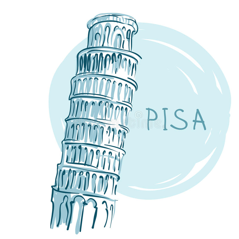 Download The Leaning Tower, Pisa, Italy, Europe Stock Vector - Illustration: 24000812
