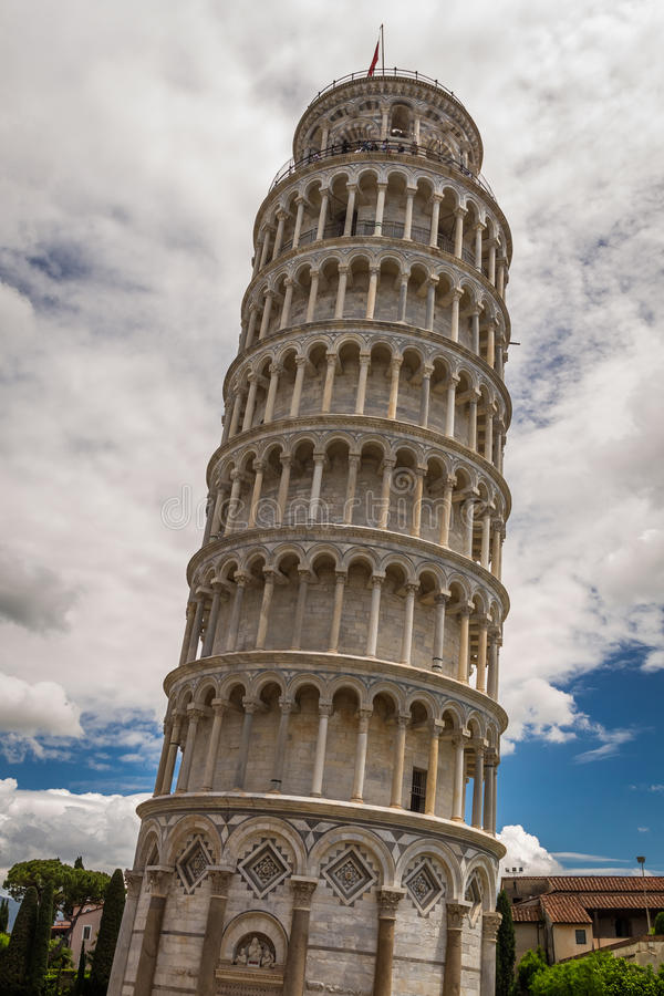 Leaning Tower of Pisa in summer royalty free stock images