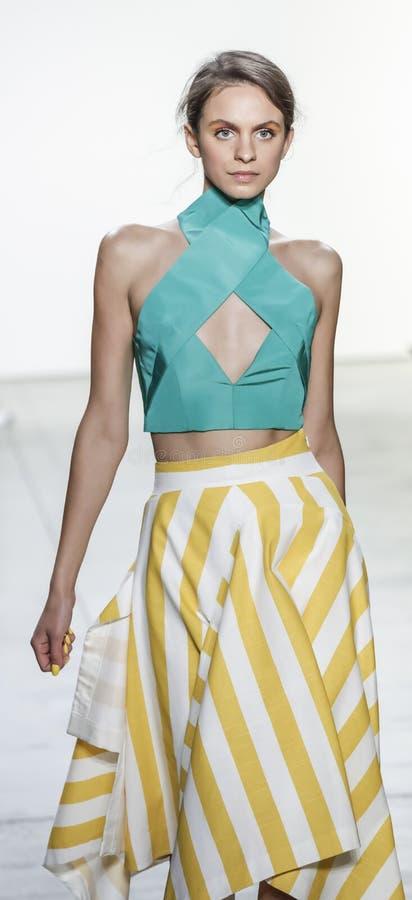 Leanne Marshall Spring /Summer 2018 stock afbeelding