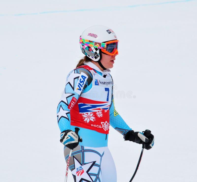 Leanne Smith sulla tazza di mondo alpina del pattino di FIS 2011/201 immagini stock libere da diritti