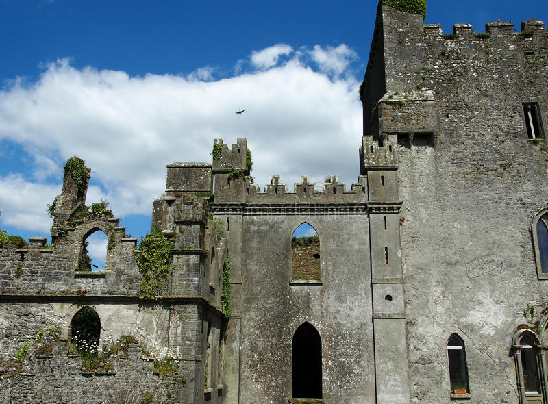 Leap Castle in Offaly County Ireland. Leap castle is one of the most haunted castles in Ireland royalty free stock photos