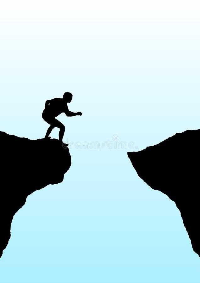 Leap of faith stock image