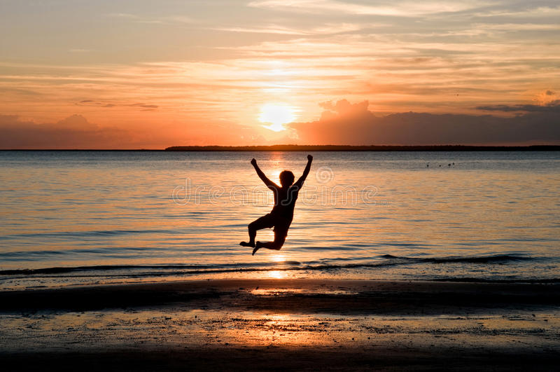 Leap of freedom royalty free stock photo