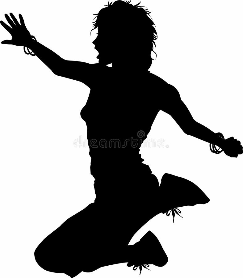 Leap02_woman illustrazione vettoriale