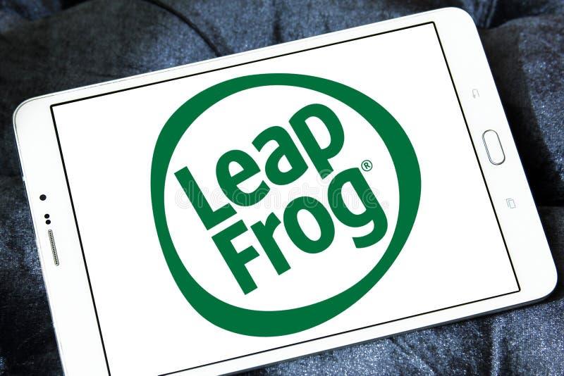 LeapFrog Ondernemingenembleem stock afbeelding