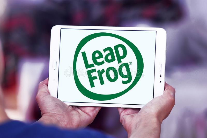LeapFrog Ondernemingenembleem stock foto's
