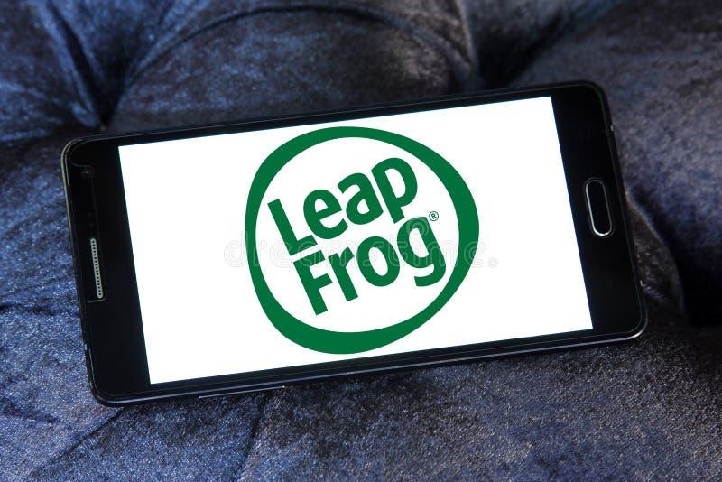 LeapFrog Ondernemingenembleem royalty-vrije stock afbeelding