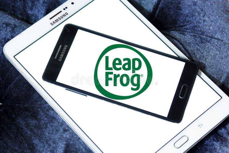 LeapFrog Ondernemingenembleem royalty-vrije stock foto