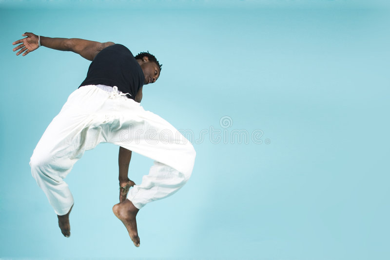 Leaping Through The Air Royalty Free Stock Photo