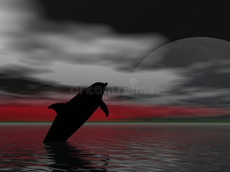 Leaping Dolphin royalty free illustration