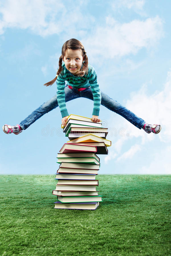 Download Leaping through stack stock image. Image of energy, kids - 19697781