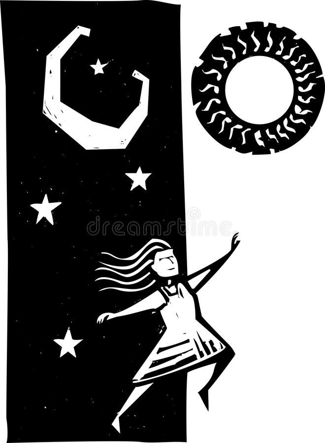 Download Leaping into Tomorrow stock vector. Image of dance, sadness - 25070012