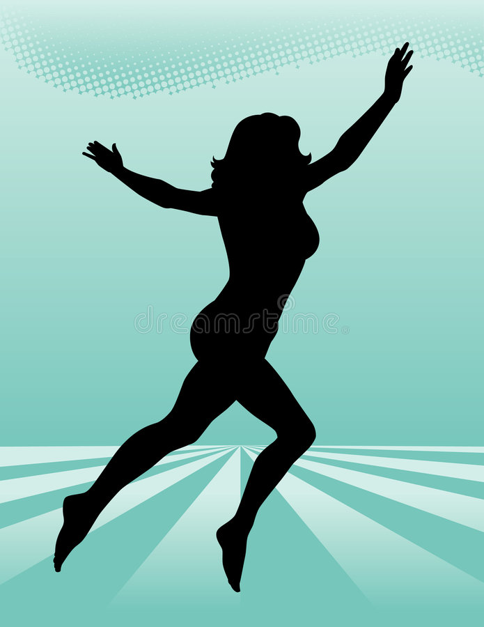 Leaping Woman Royalty Free Stock Image