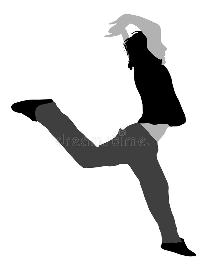 Leaping young fellow. On isolated background vector illustration