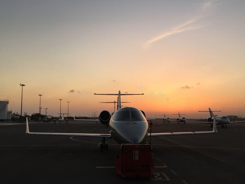 Lear Jet 55 images libres de droits