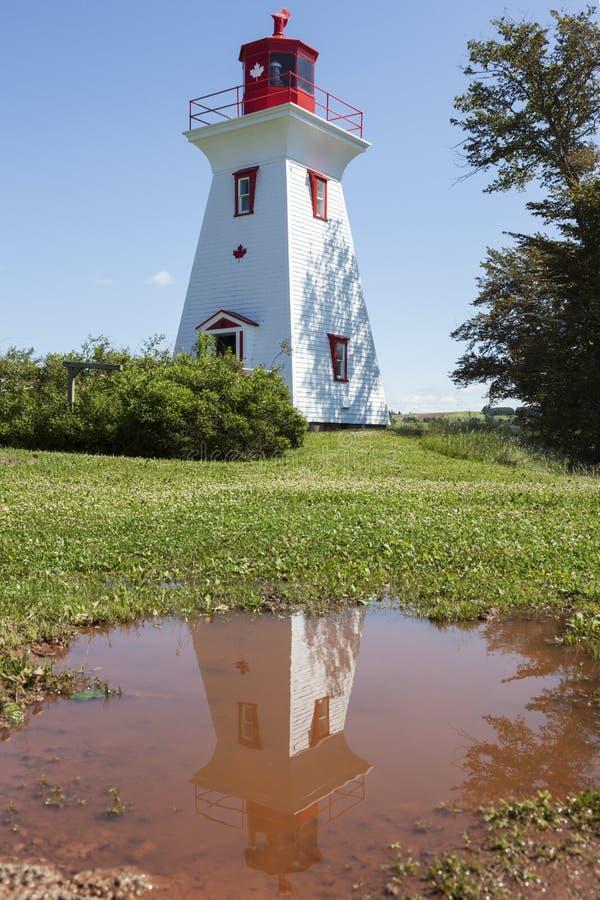 Leards-Strecke Front Lighthouse auf Prinzen Edward Island stockfoto