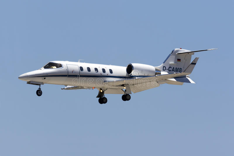 LearJet enregistré par Allemand photo stock