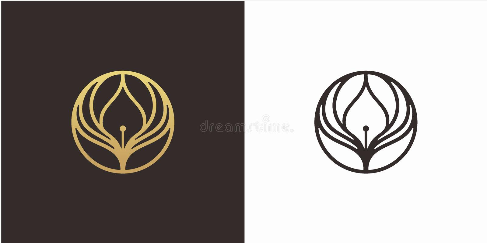 Learn Education logo design concept, wings logo, with Luxury style logo template vector illustration