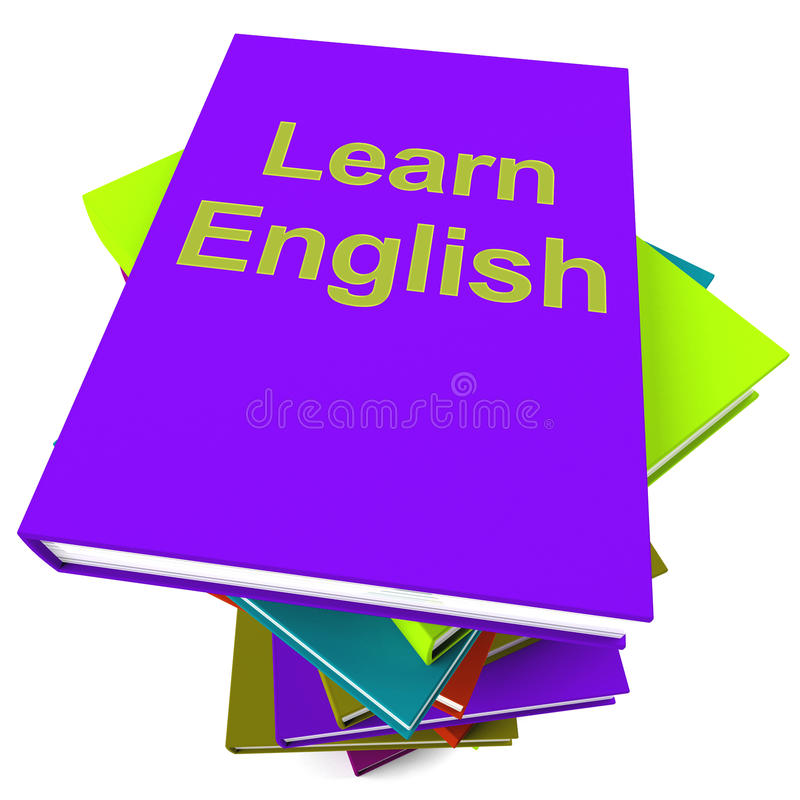 Learn English Book For Studying A Language Stock Images