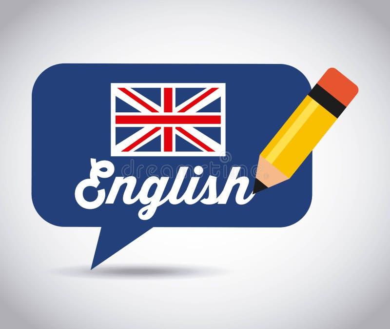 Learn english design royalty free illustration