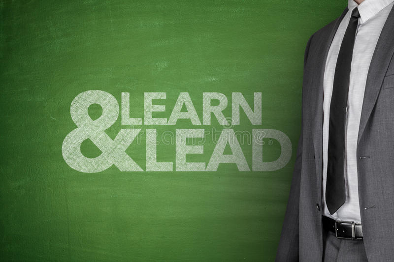 Learn & Lead on Blackboard royalty free stock image