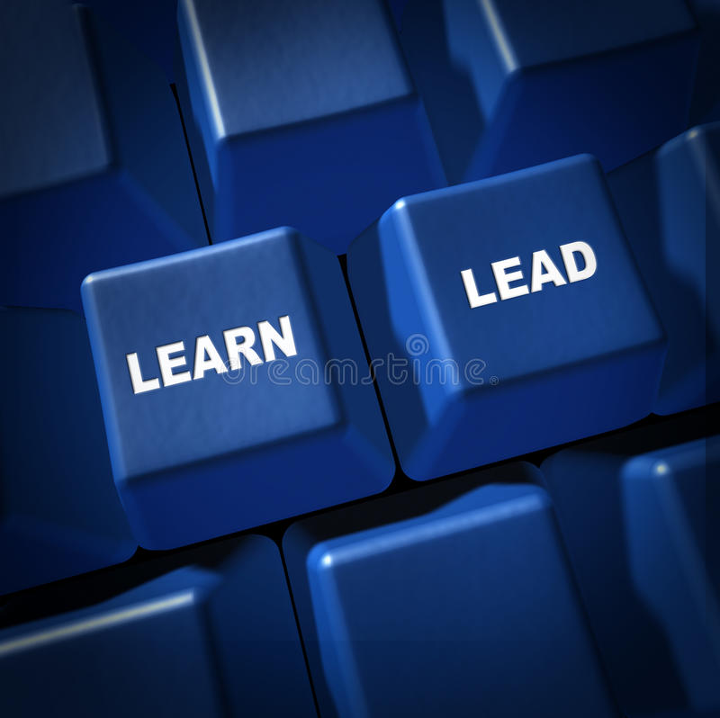 Learn Lead Strategy Planning Computer Key Stock Images