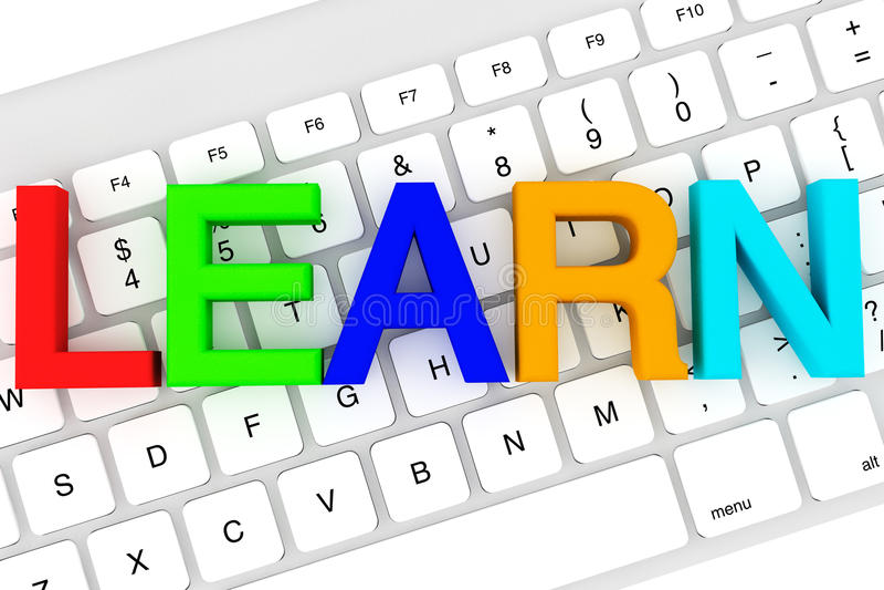 Learn letters stock illustration