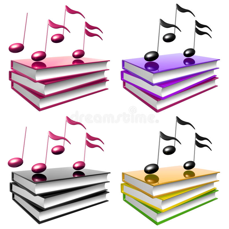 Learn music and song by books icon symbol royalty free illustration