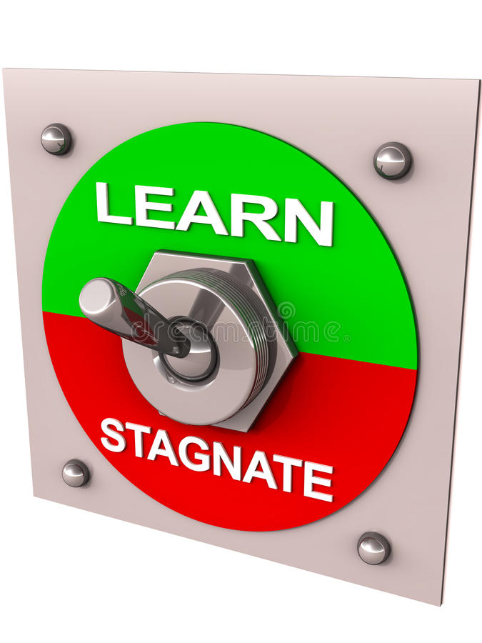 Learn or stagnate stock illustration