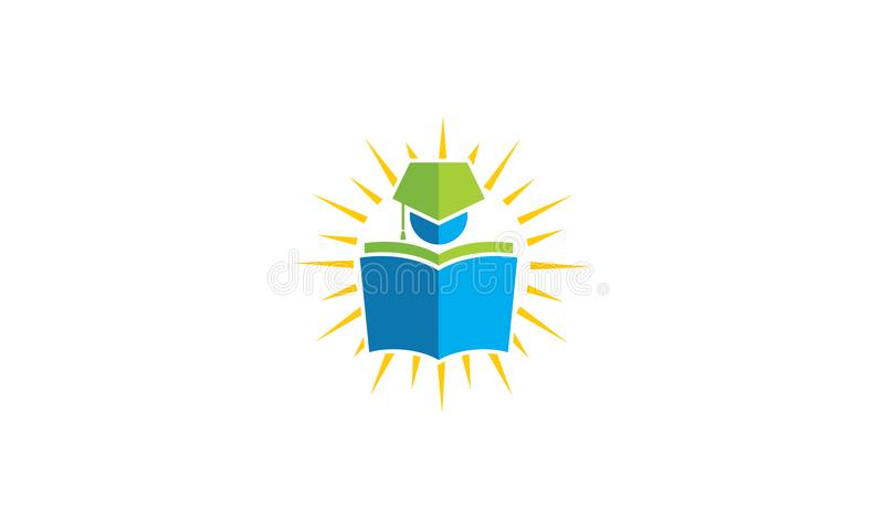 Learn the student book logo vector icon stock illustration