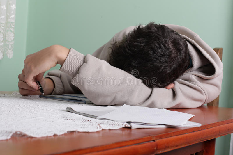 Download Learn without a will stock photo. Image of study, teen - 16438280