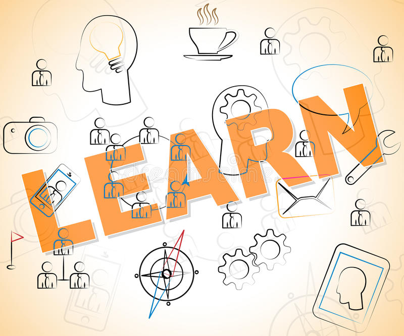 Learn Word Showing Education Or Study Stock Illustration ...
