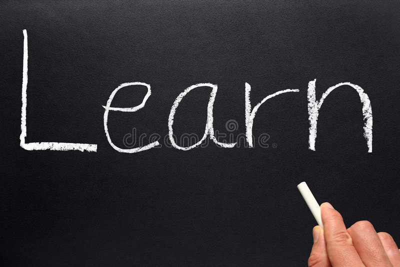 Download Learn Written On A Blackboard. Royalty Free Stock Images - Image: 4323249