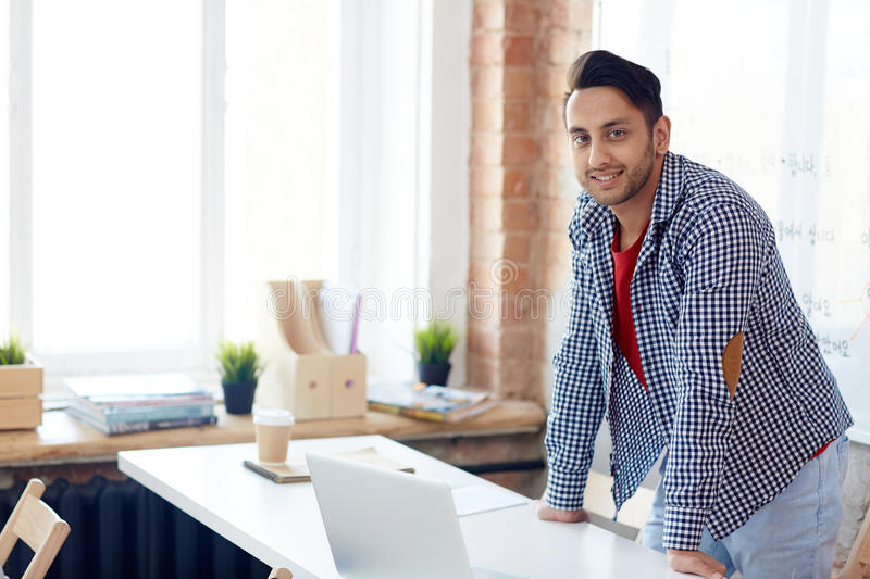 Learner in classroom stock image