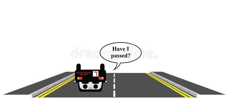 Learner driver royalty free illustration