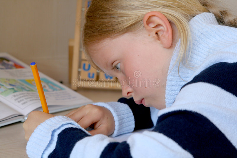 Learning alphabet stock images
