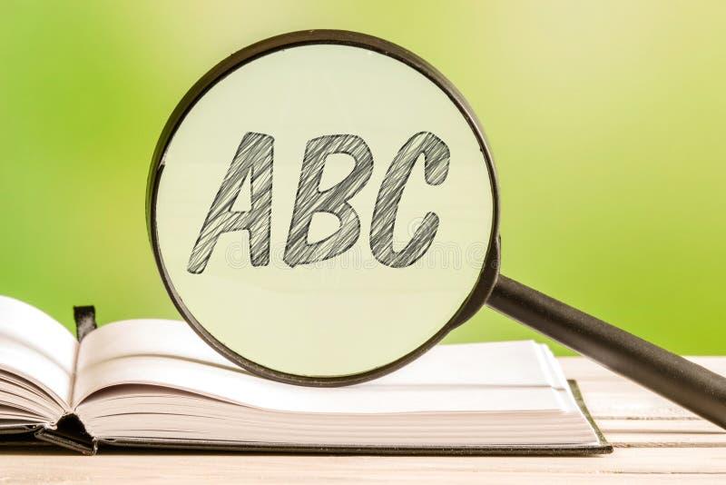 Learning the alphabet abc royalty free stock image