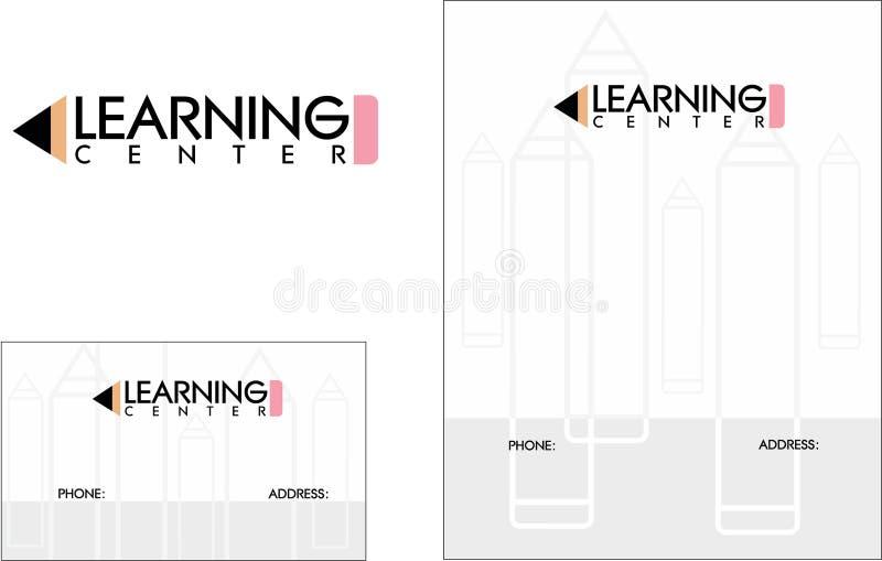 Learning Center School Education Logo, Business Card 2 x 3.5, Flyer 4.25 x 5.5. Modern School Education Logo Business Card Flyer stock illustration