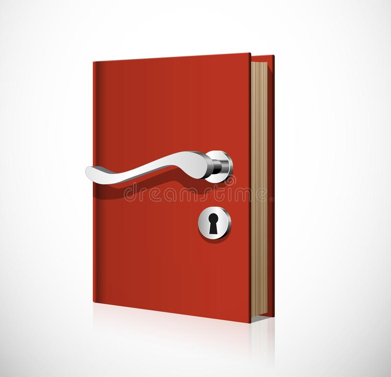 Learning concept - book as door to knowledge royalty free illustration