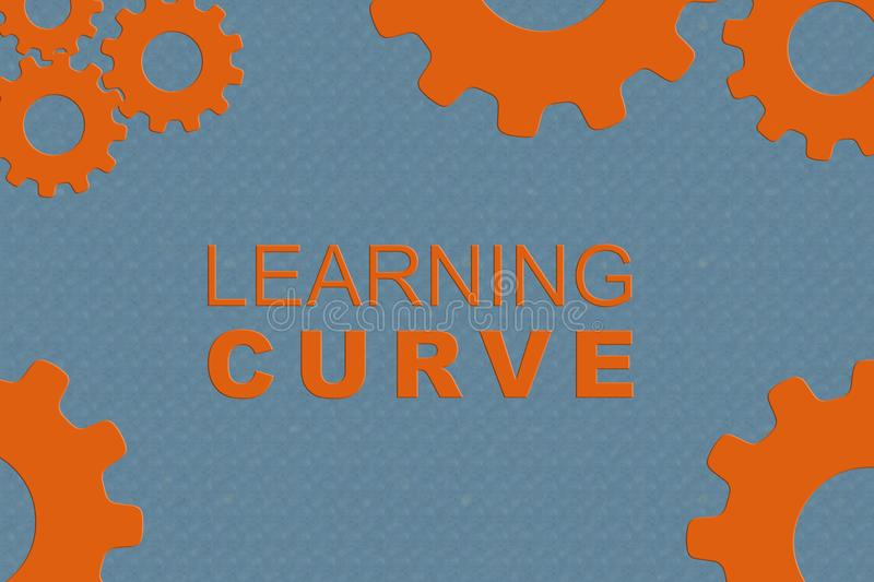 LEARNING CURVE concept stock illustration