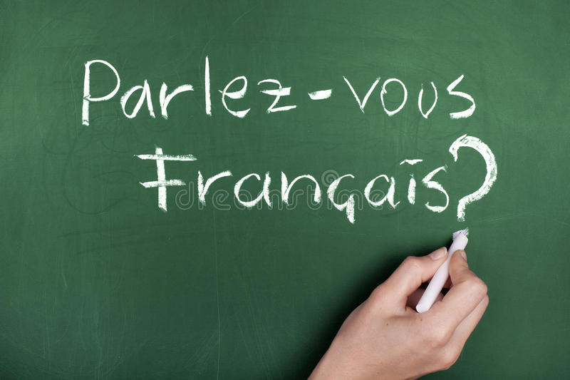 LEARNING FRENCH LANGUAGE royalty free stock images